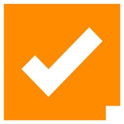 orange check
